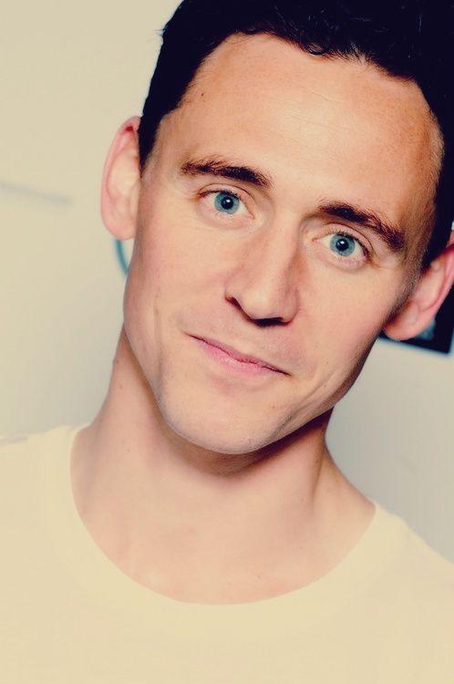 Beautiful eyes. White Tee. Tom Hiddleston