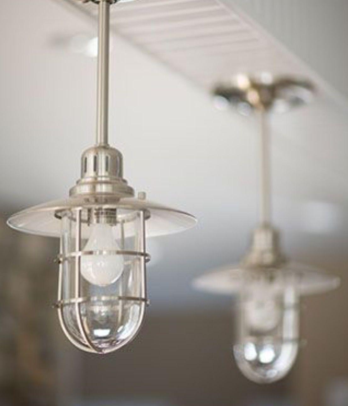 Use Drop Industrial Nautical Lighting Instead Of Can Lights Nautical Kitchen Nautical Lighting Light Fixtures
