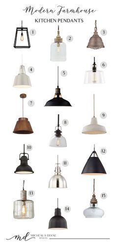 Modern Farmhouse Kitchen Pendants - Micheala Diane Designs