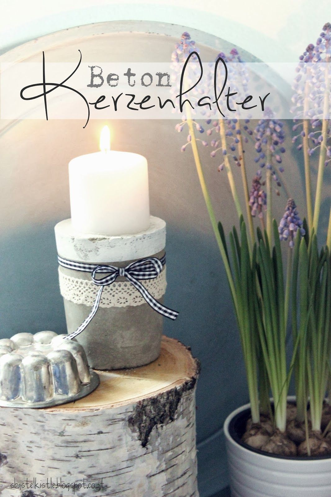diy beton kerzenhalter s 39 bastelkistle deko selber machen pinterest. Black Bedroom Furniture Sets. Home Design Ideas
