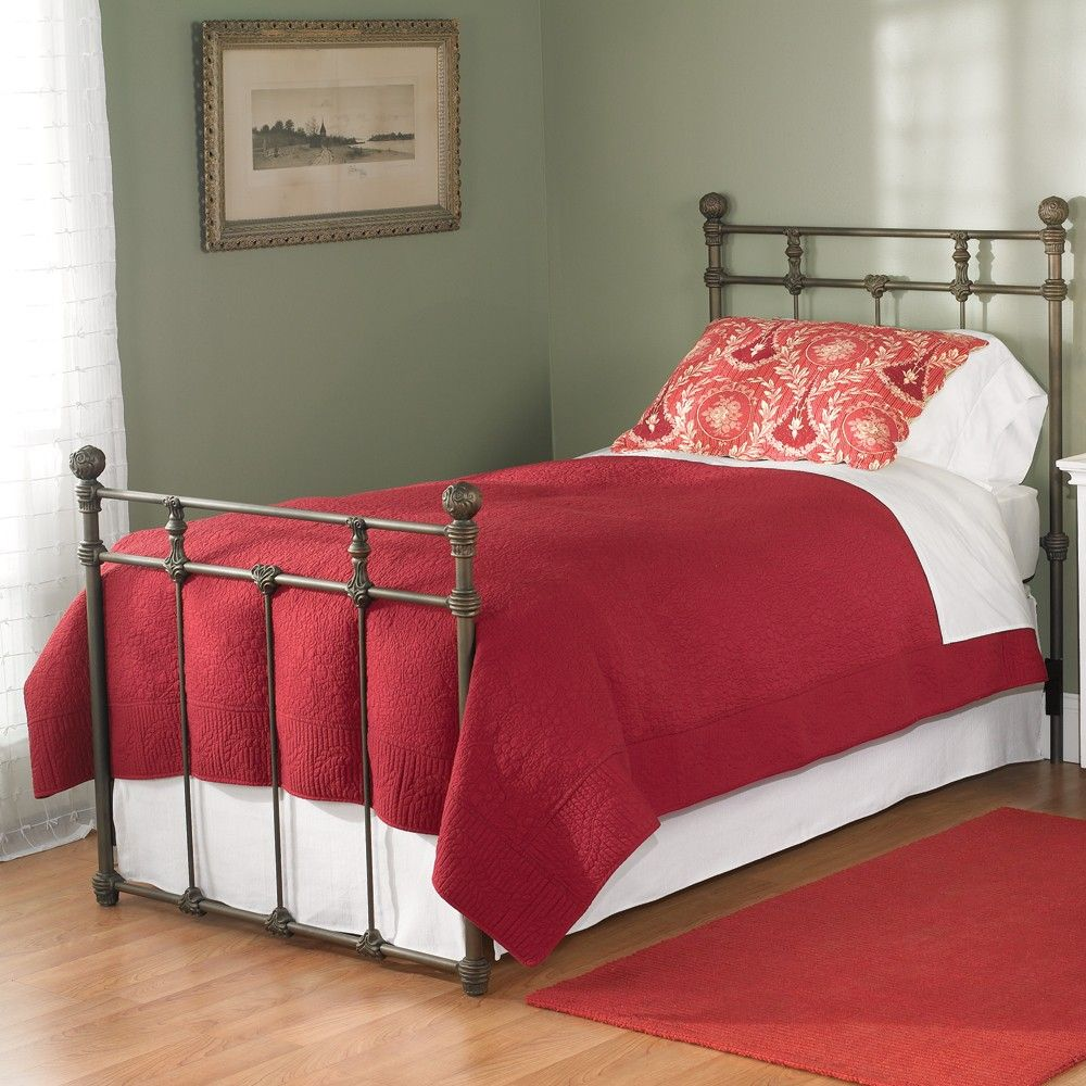 Sena Iron Trundle Bed by Wesley Allen Old Copper Finish