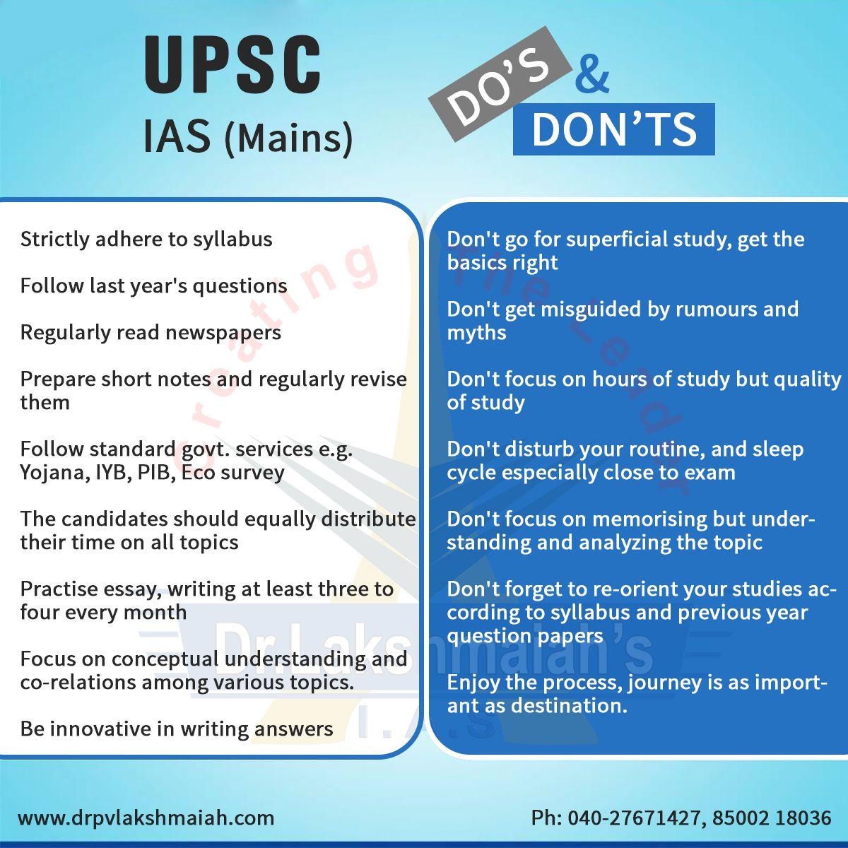 Do S Don T For Upsc Ia Main More Update Follow U Http Plu Google Com 0 Drlakshmaiahiasst Economic Lesson Exam Study Tip Skills Ccmb Hyderabad Dissertation