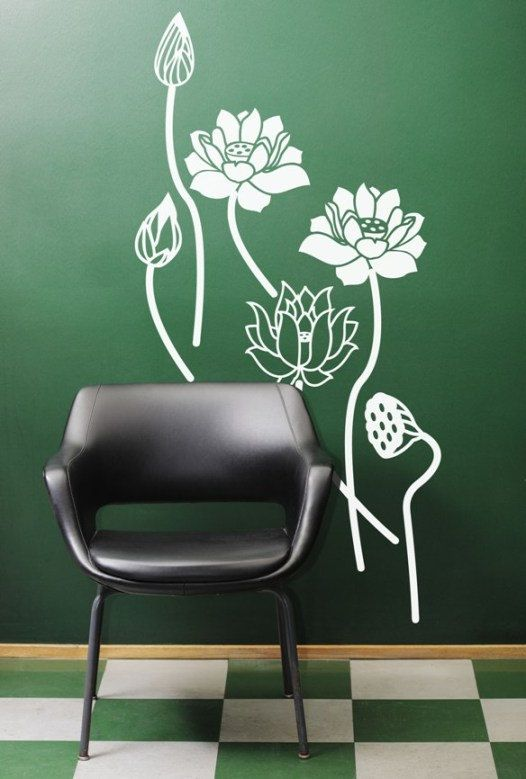 Zen Lotus Calm Yoga Studio Wall Art Decal By ArtitudeUandArt - Yoga studio wall decals