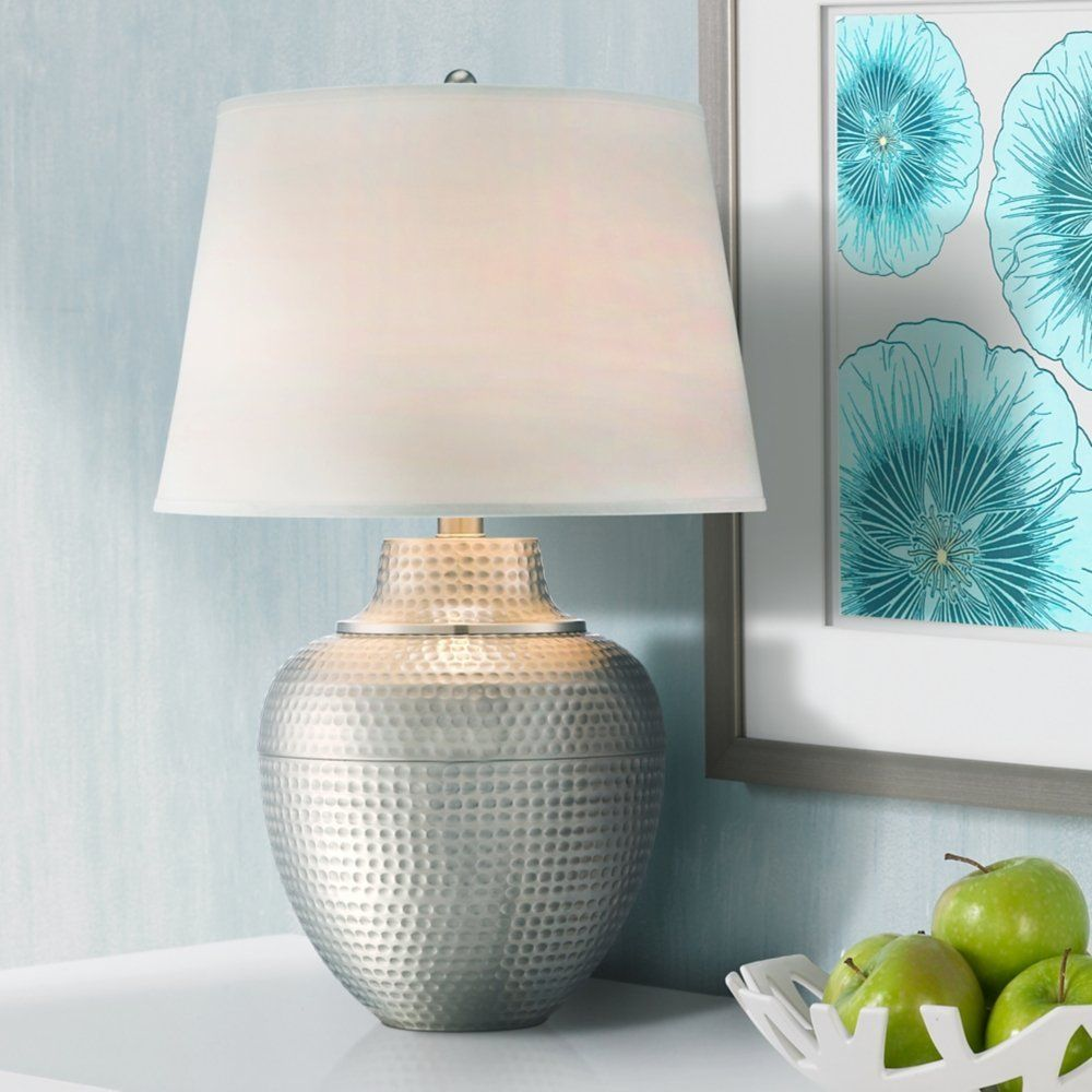 Gehämmert Metall Tisch Lampe   Moderne tischlampen, Wohnzimmerlampe, Lampentisch