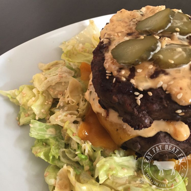 Keto Big Mac Salad | Low carb | Low carbohydrate diet, Big