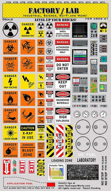 Factory Lab decal set! Cooper Works Pinterest Decals, Diorama