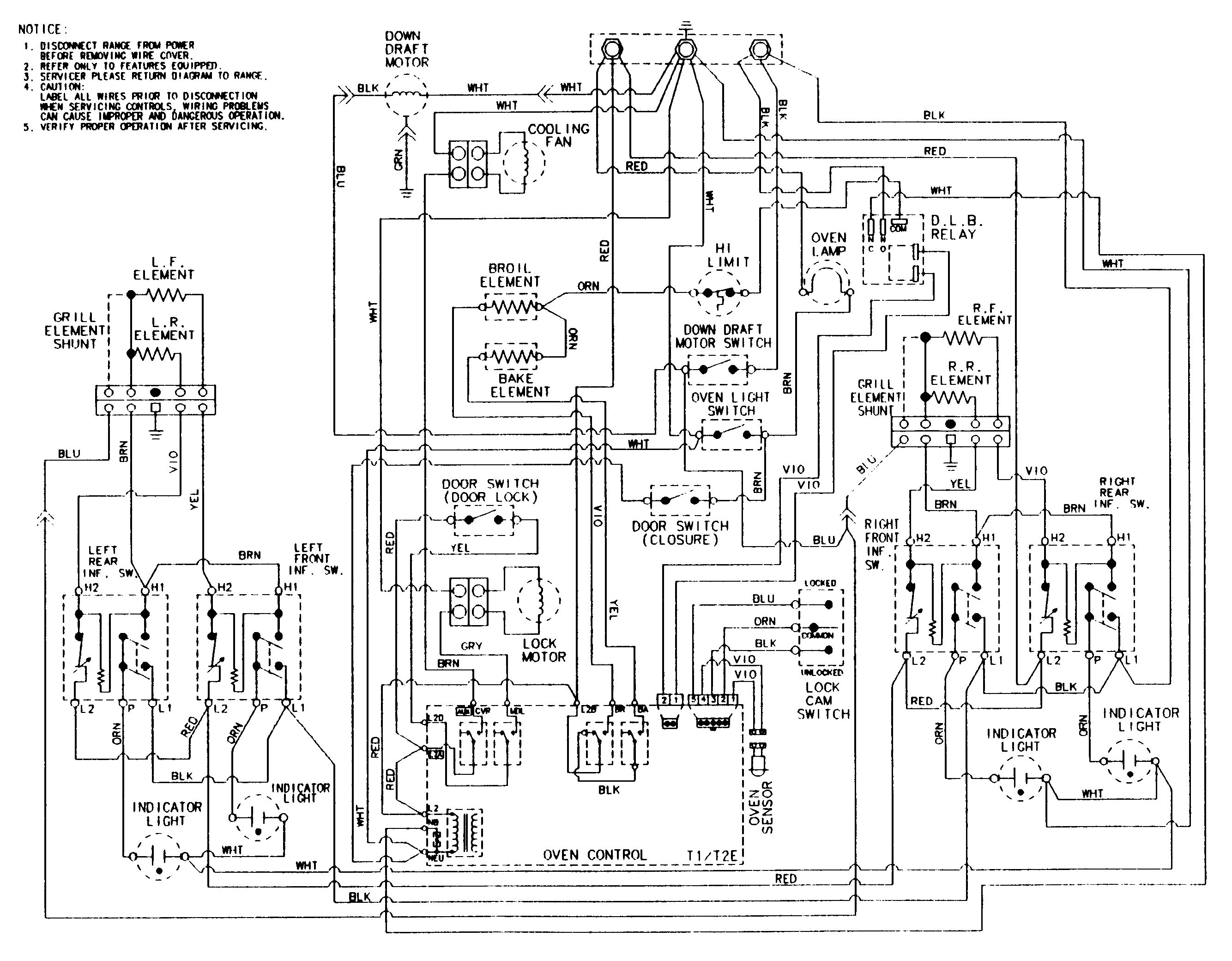 Wiring Information Diagram And Parts List For Jennair