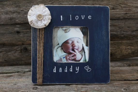 Daddy Picture Frame I Love Daddy Photo Frame Navy Blue Photo Frame