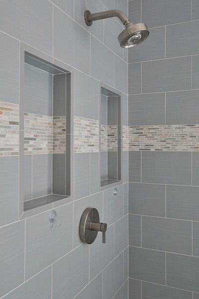 Shower Niche With Detail Stripe Have Stripe Go Completely Around