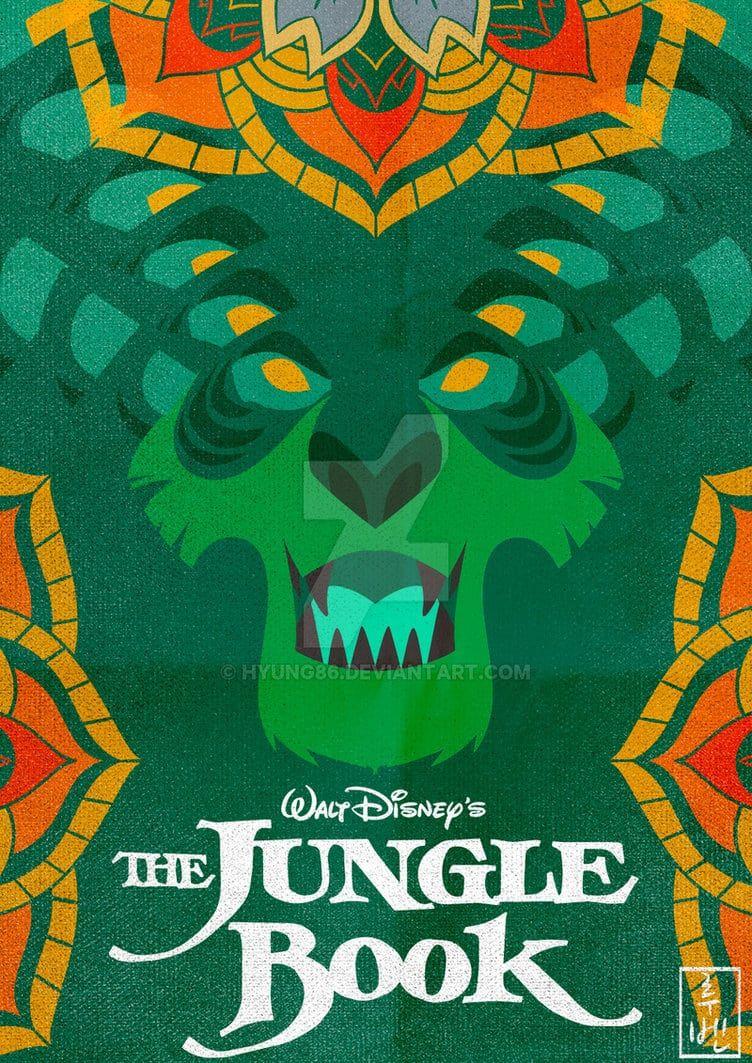 Affiche Revisitee Par Ruben Alias Hyung86 Animation Disney Affiches Disney Le Livre De La Jungle