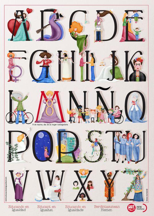 Abecedarios Y Mujeres Abecedarios Abecedario Alfabeto Y Letras