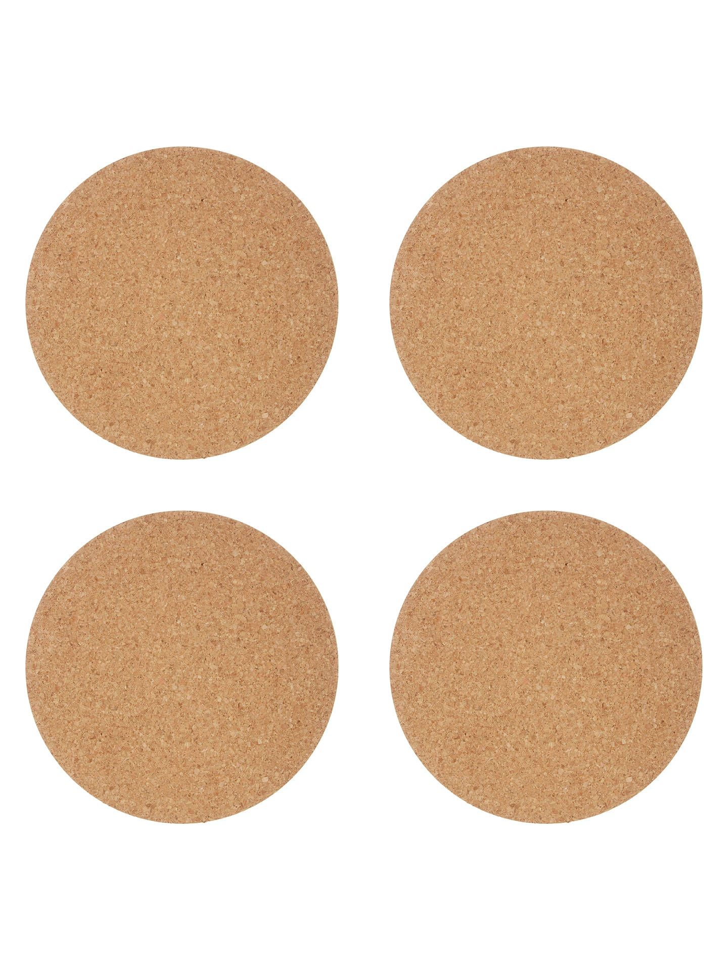 House By John Lewis Round Cork Placemats Set Of 4 House By John Lewis Placemats Cork Coasters