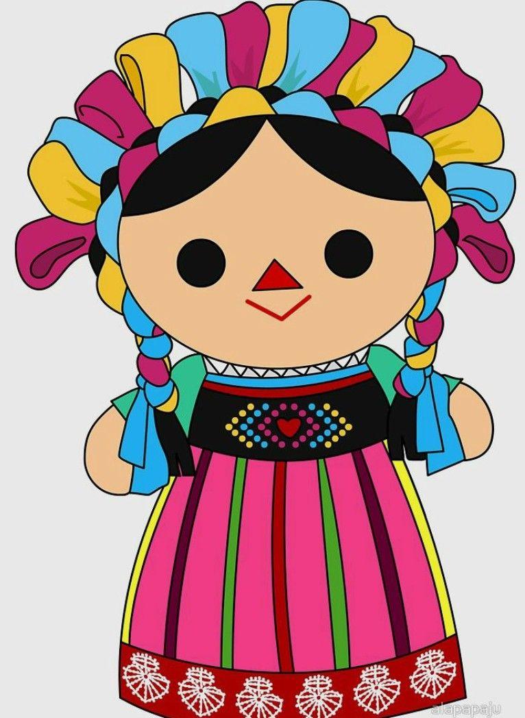 Pin De Cherie Alstott En Embroidery Mexican Munecas Mexicanas Munecas De Trapo Mexicanas Munequitas Mexicanas Con Nombres