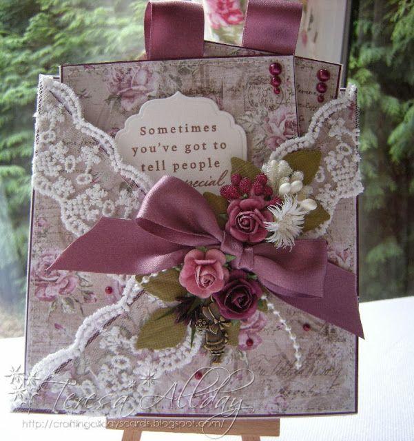 HAND-MADE VINTAGE STYLE BIRTHDAY GREETING CARD & BOOKMARK   eBay