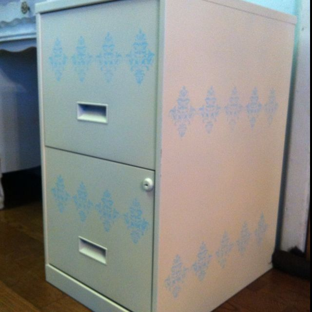 An Ordinary Black Filing Cabinet Updated To Match My Decor Going