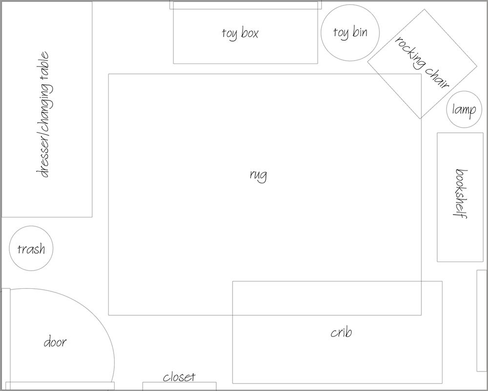 10 X 10 Nursery Layout Google Search Nursery Layout Nursery Furniture Layout Toddler And Baby Room
