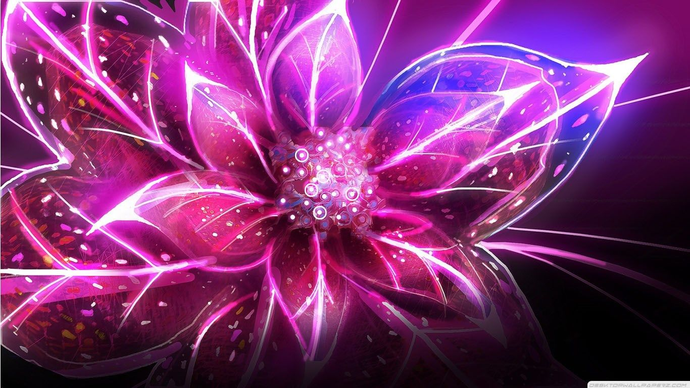 Pink Abstract Wallpaper For Computer Black And Purple Art