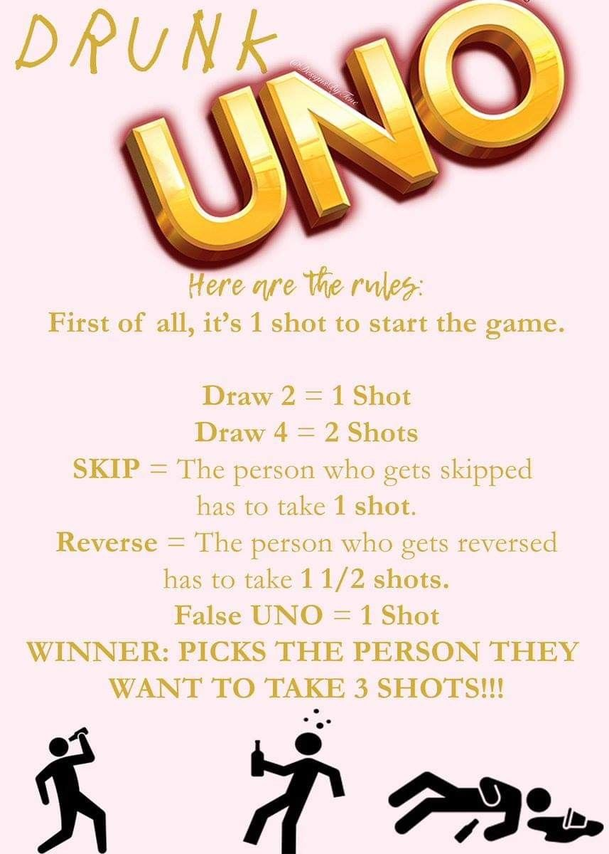 Drunk uno adult party games