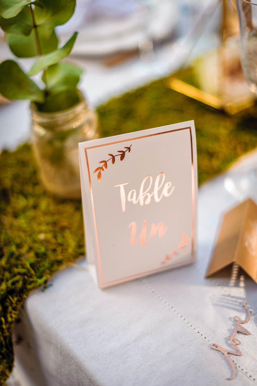 10 Numeros De Table Rose Gold En 2020 Marque Table Mariage