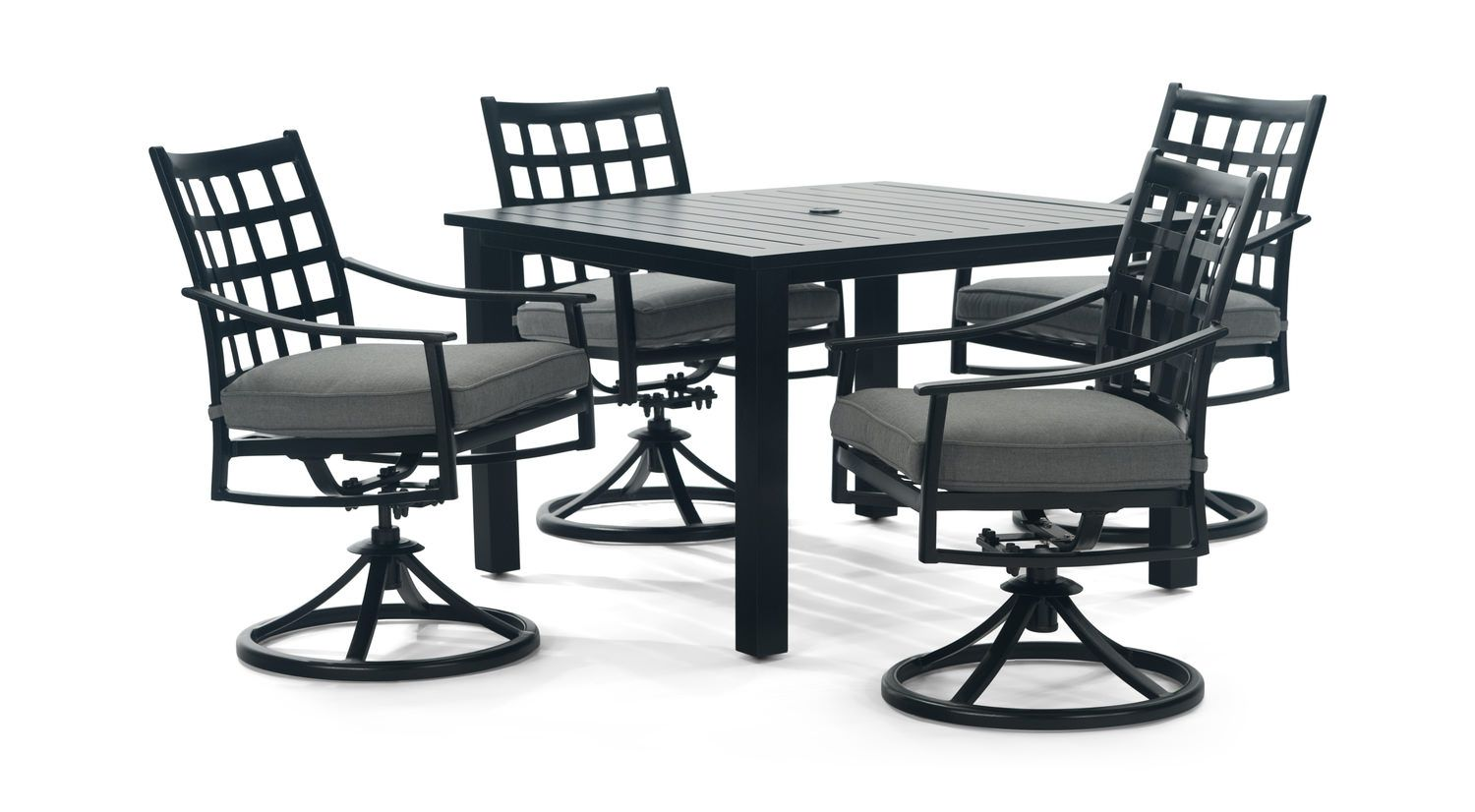 Millennial 5 Piece Square Patio Dining