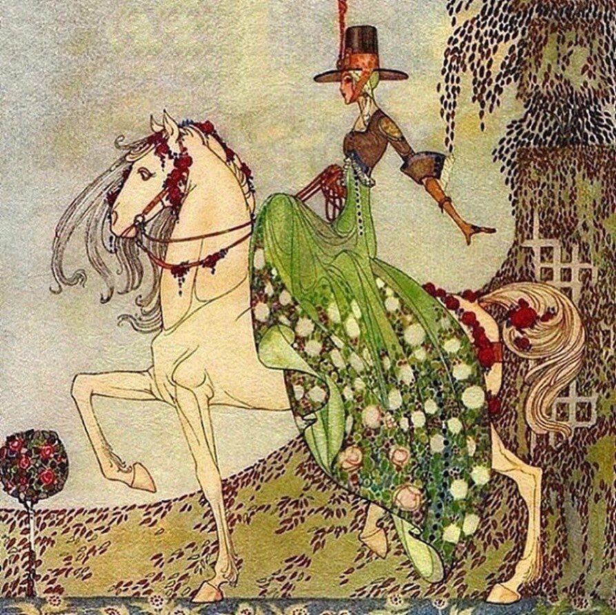 3 142 Me Gusta 9 Comentarios Vintage Illustration Gallery Vintageillustrationgallery En Instagr Fairytale Art Fairytale Illustration Vintage Illustration
