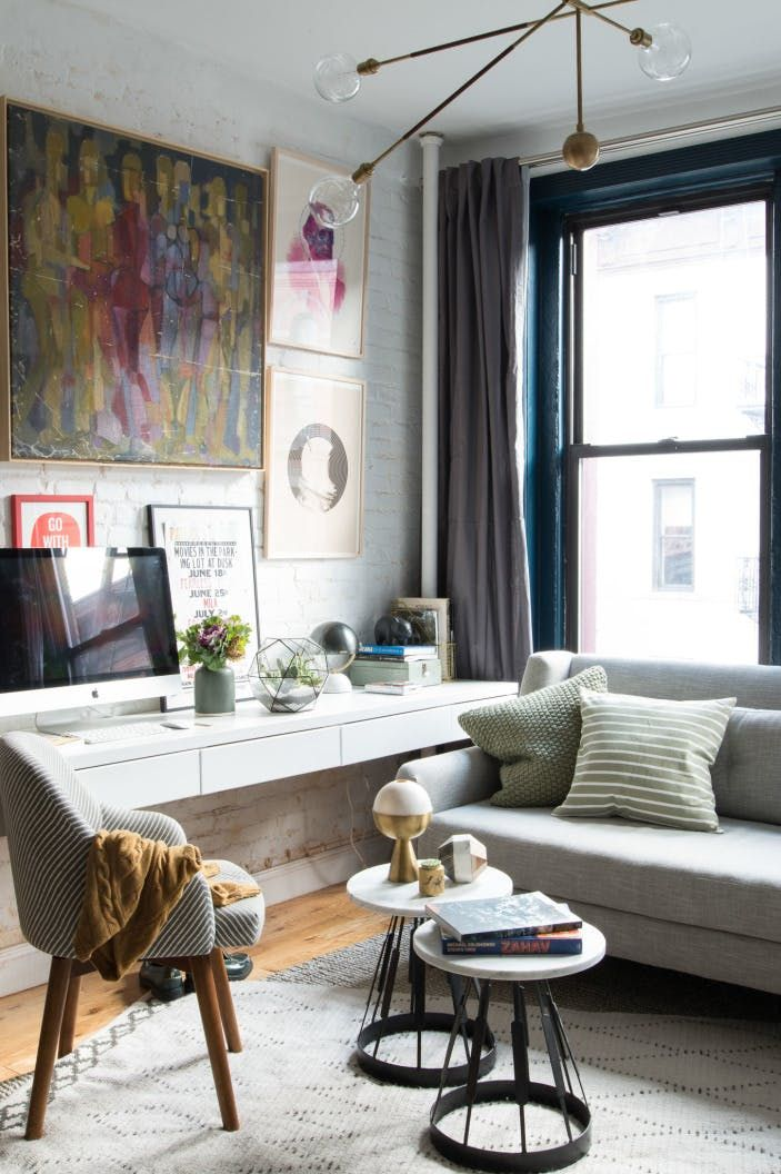 7 Ways to Fit a Workspace into a Small Space Small spaces, Spaces - Living Room Ideas For Apartments
