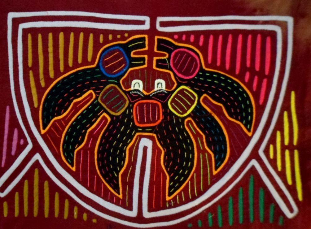 Kuna Indian Super Crab Mola-Panama 15110611L