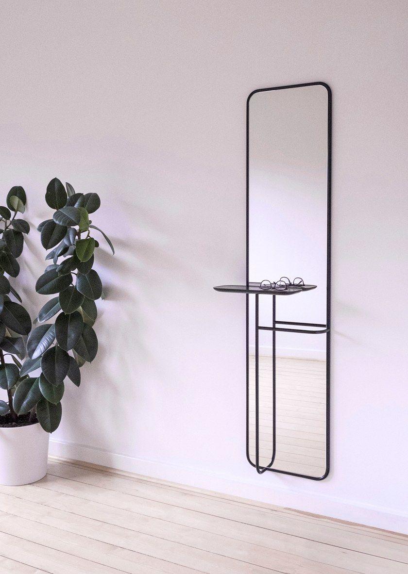 miroir mural avec etagere pour hall d entree