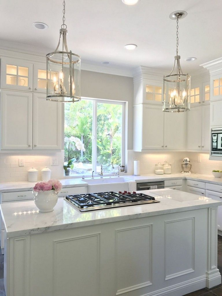 50+ Extraordinary Kitchen Backsplash with White Cabinet ...