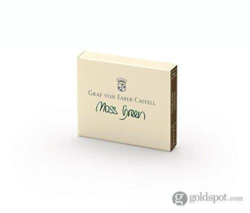 Box of 6 Faber-Castell Moss Green Cartridges Fountain Pen