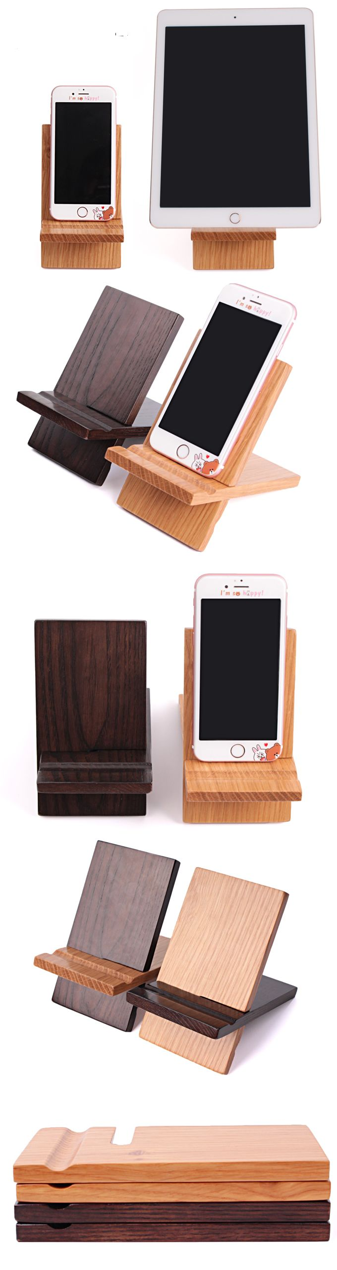 Portable Bamboo Wooden iPad iPhone Cell Phone Mobile Phone Stand ...