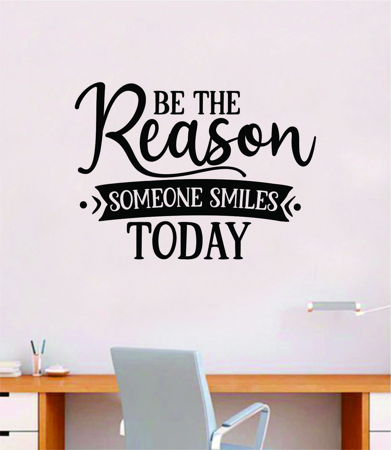 Be the Reason Smiles V3 Wall Decal Quote Home Room Decor Art Vinyl Sticker Inspirational Motivational Good Vibes Teen Baby School - olympic blue