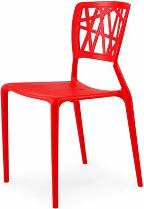 phoenix outdoor stackable armless side chair red chairs side rh pinterest co uk