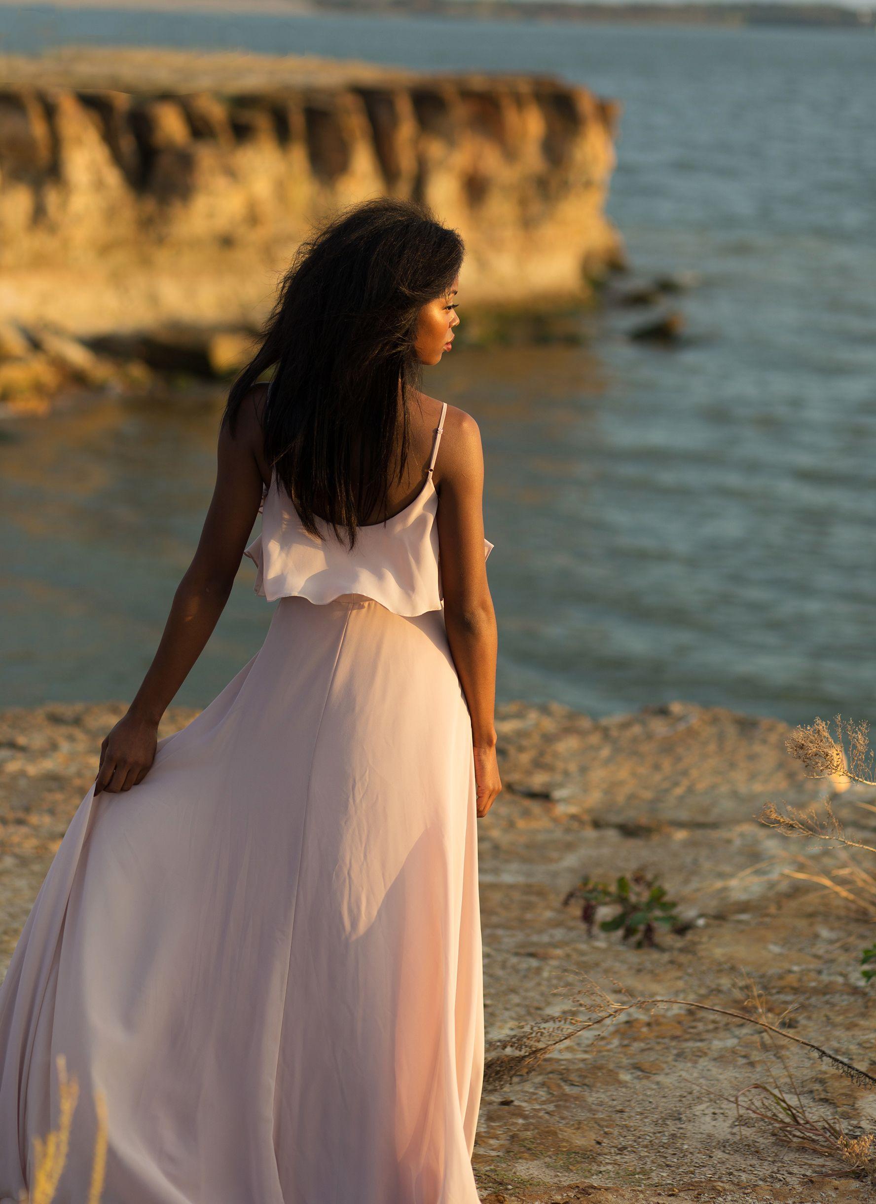 Wedding dresses under $200  Seraphina Chiffon Bridesmaid Dress in Rose Quartz by Love Tanya