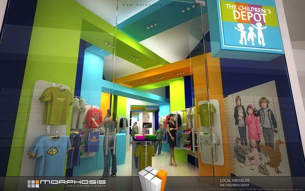 Children S Store Interior Fun Sharp Shapes Goruntuler Ile