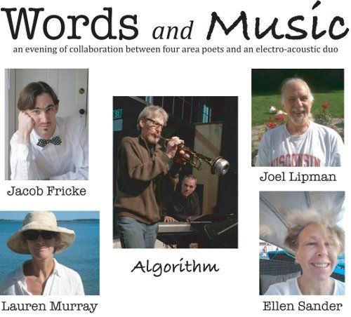 Words and Music, Saturday, June 9 at 7:30. Åarhus Gallery