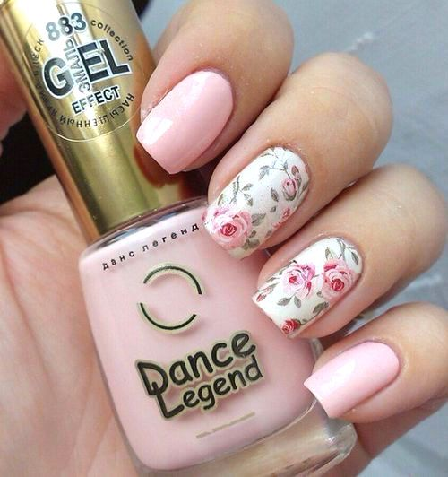 50 Fabulous Nail Designs And Colors For Spring Nail Art Rose