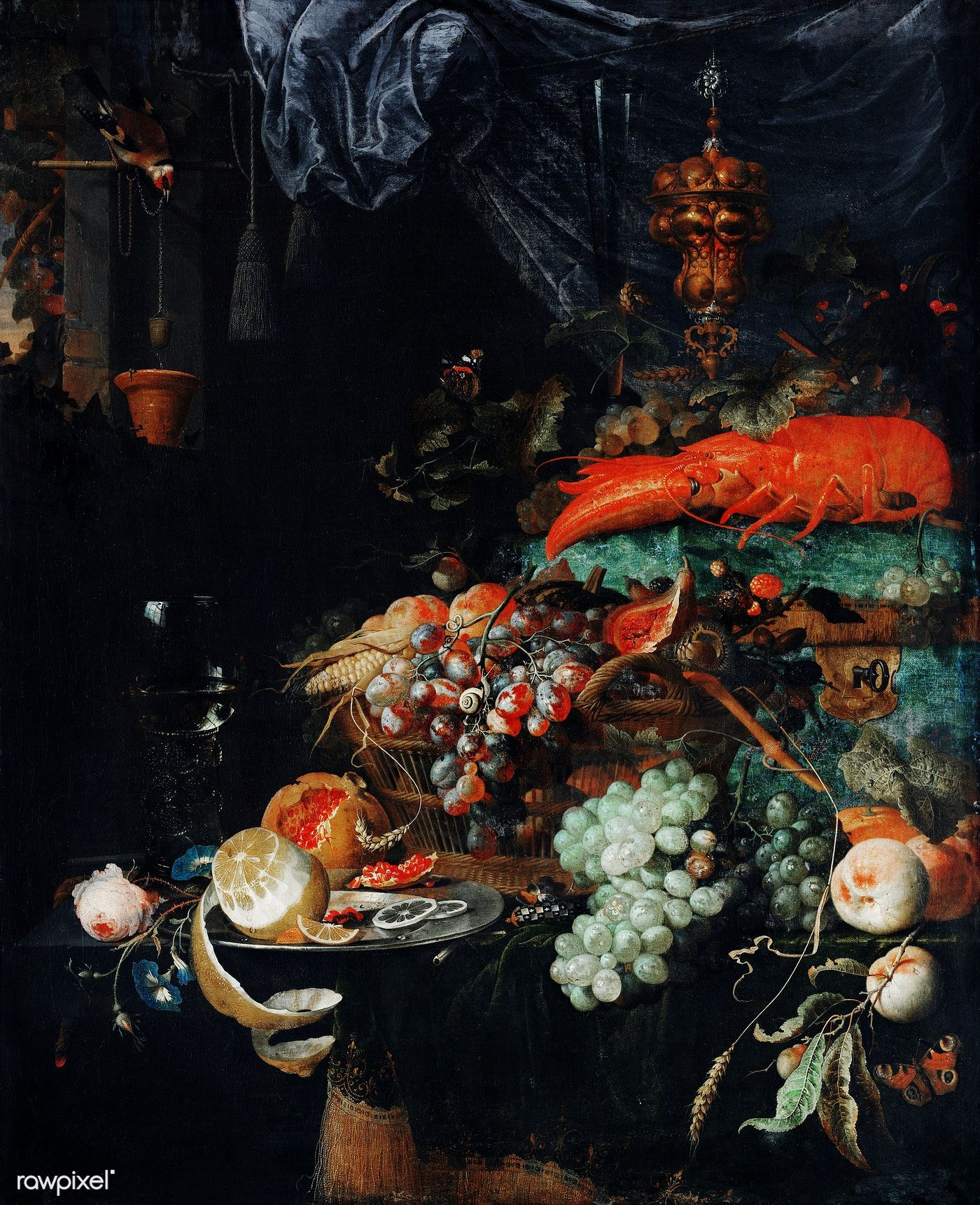 Fruits And Lobster By Abraham Mignon 1660 1679 Original