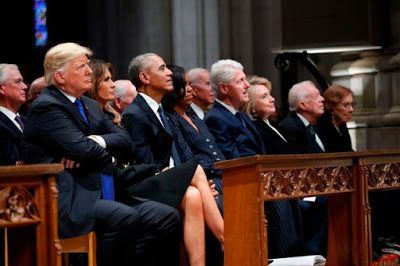 donald trump s body language at bush funeral reveals tension between rh pinterest com