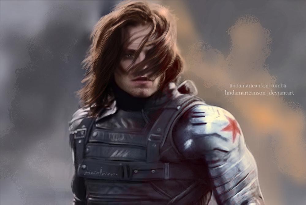 Superb Winter Soldier By LindaMarieAnson Fan Art / Digital Art / Painting U0026  Airbrushing / Movies U0026 TV©2014 LindaMarieAnson