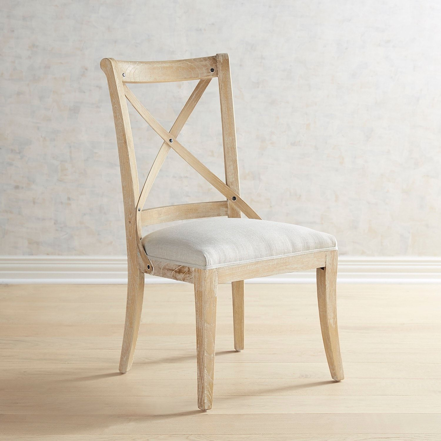 Stella Flax Dining Chair with Natural Stonewash