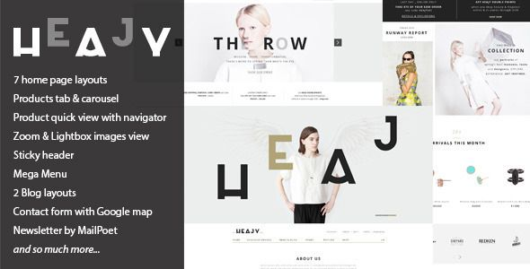 Heajy - Handmade Fashion WordPress Theme (WooCommerce) - http ...