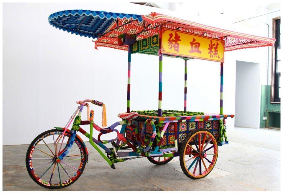 Carrito / bici tejido