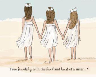 Best Friends - Sister Wall Art - Sisters Digital Art Print - Sisters