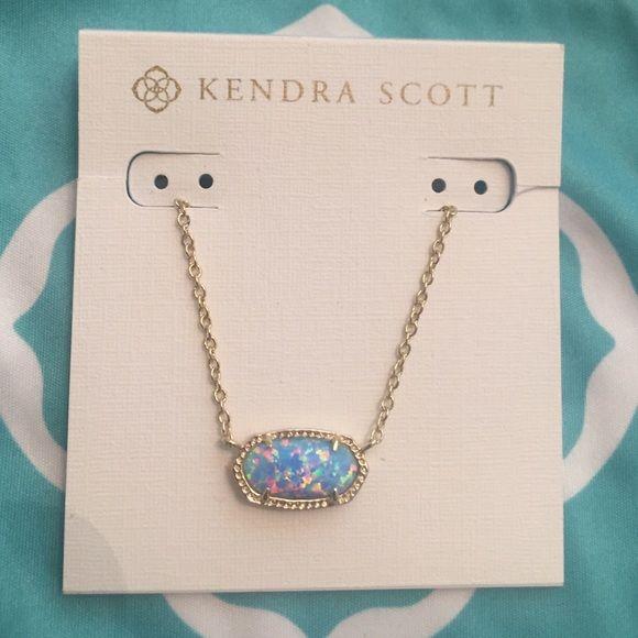 Kendra Scott Blue Opal And Good Elisa Necklace Nwt