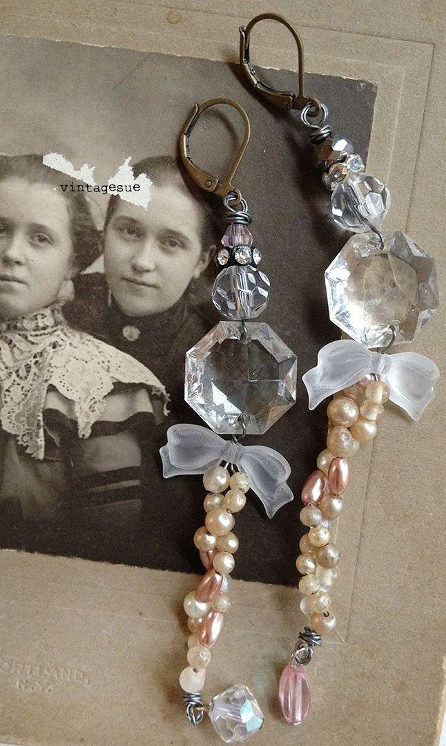 upcycled earrings www.facebook.com/vintagesue
