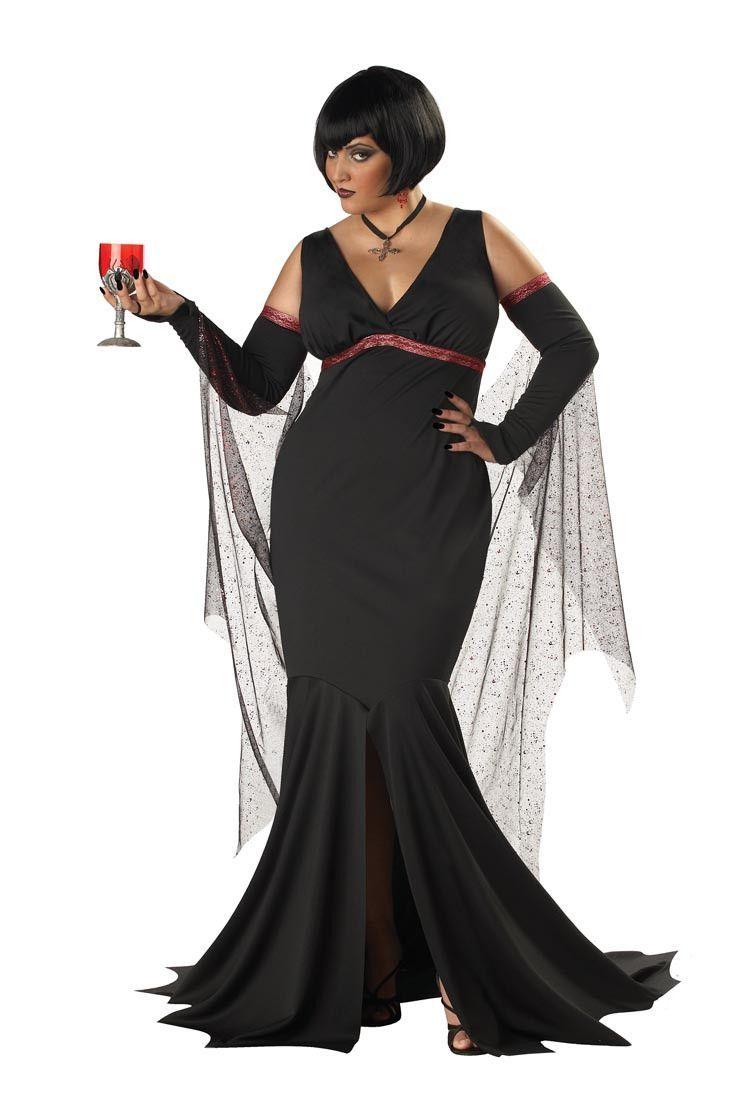 Seduce and destroy in this sexy adult gothic vampire costume