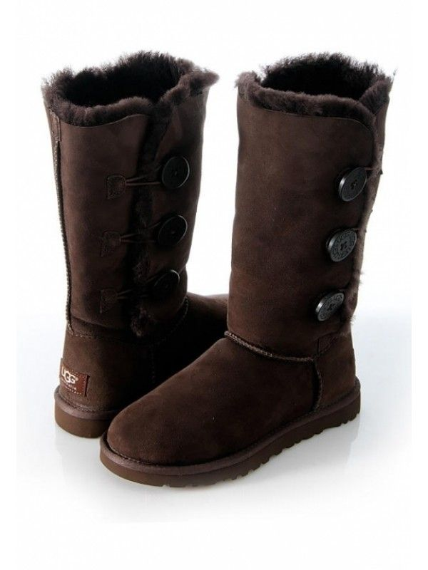 Купить Угги UGG Australia Bailey Button Triplet Chocolate | Christmas | Pinterest | Fashion