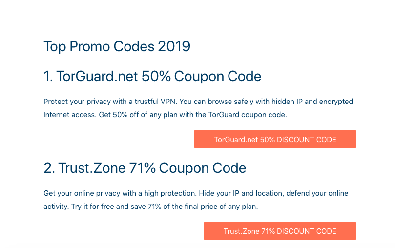 coupons and deals for the most popular VPN Encryption