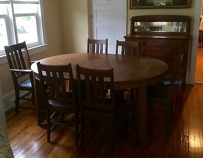 Northern Furniture Company Dining Room Set Table And Six Chairs 1 800 00 Beautiful 7 Piece Turn Of The Century Quartersawn Mission Oak